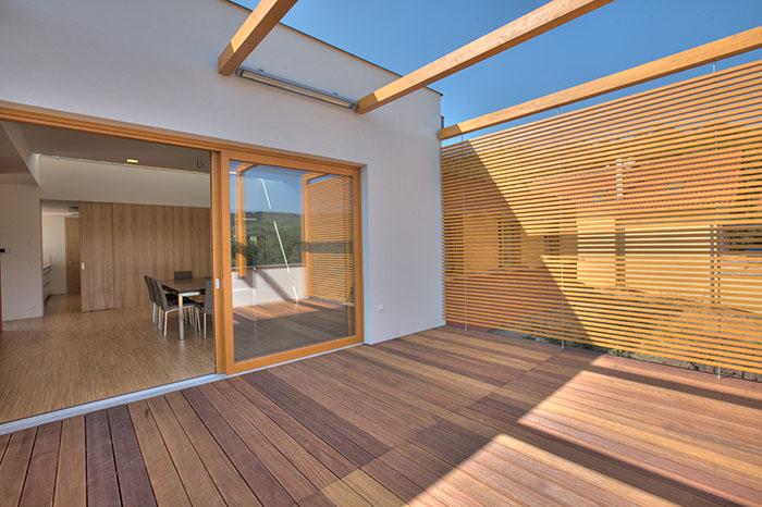 Paysagement maison et condo neuf terrasse en bois