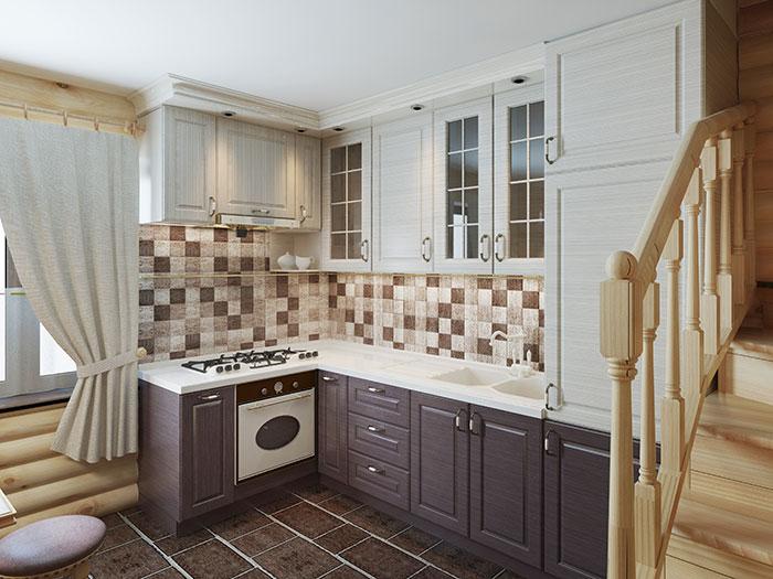 Carreaux de mosaïque dans une cuisine