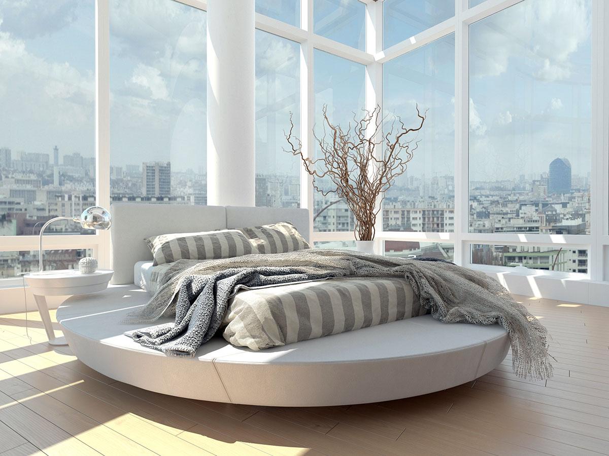 La position du lit dans un processus imparable de décoration